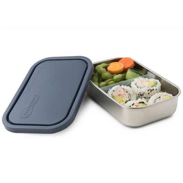 U•Konserve, Divided To-Go Rectangle Container | Ocean (25oz)
