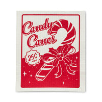 Vintage Candy Cane Dish Cloths (Set of 2)