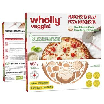 Wholly Veggie! Margherita Pizza With Cauliflower Crust (453g)