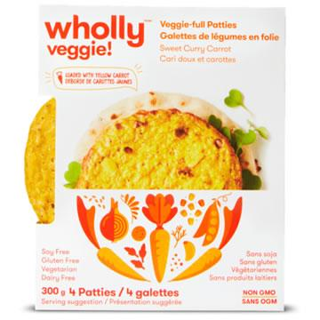 Wholly Veggie! Sweet Curry Carrot Veggie-full Patties (300g)