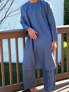 Thobe Set in Sea Blue