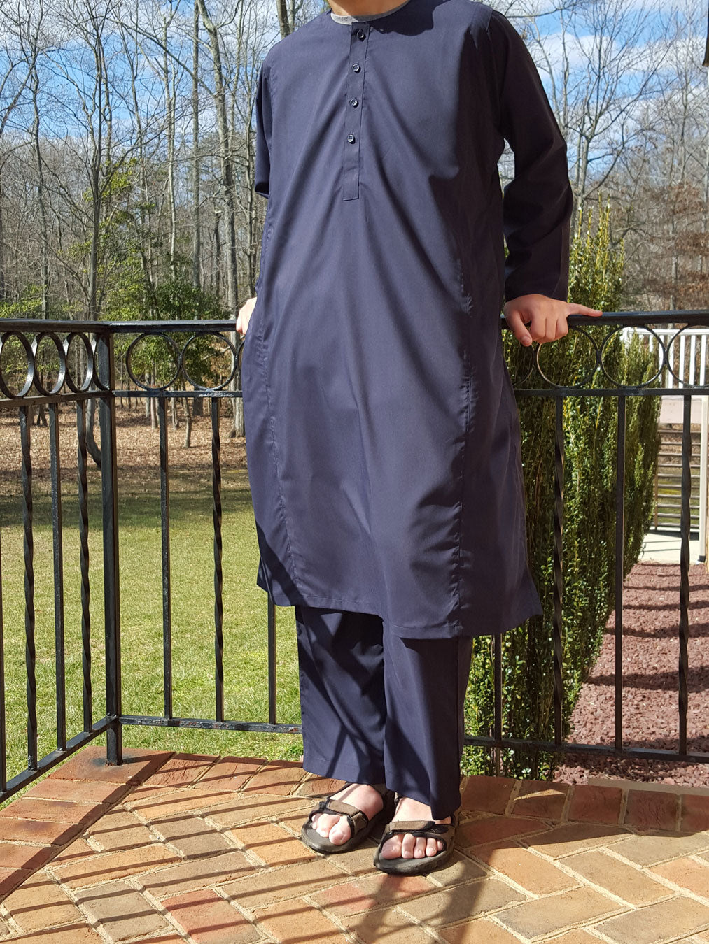 Thobe Set in Navy