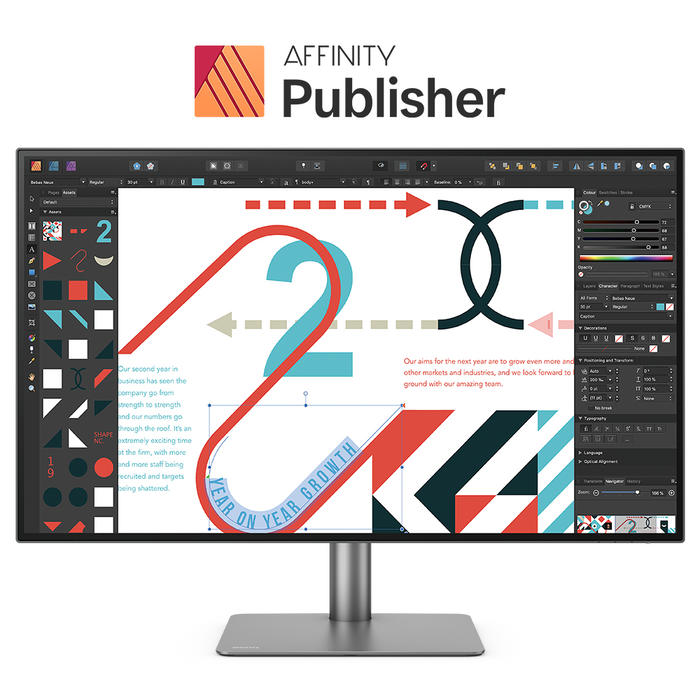 BenQ PD3220U Pro 32in IPS Monitor With Affinity Publisher