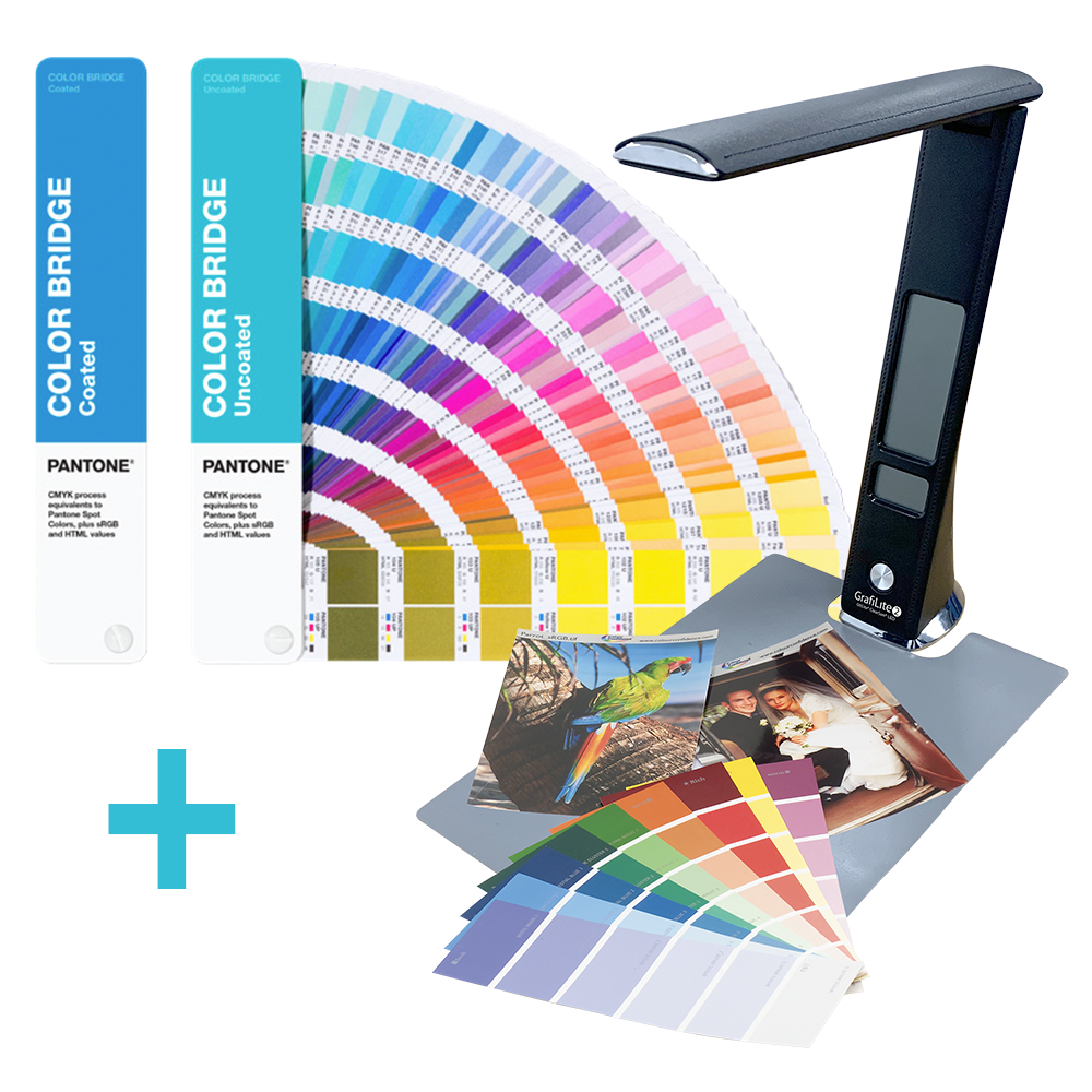 PANTONE Color Bridge Guide Coated & Uncoated mit einer GrafiLite-2