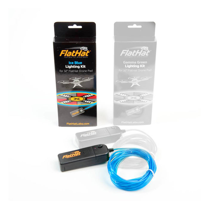 FlatHat Lighting Kit für Collapsible Drone Pads – Ice Blue