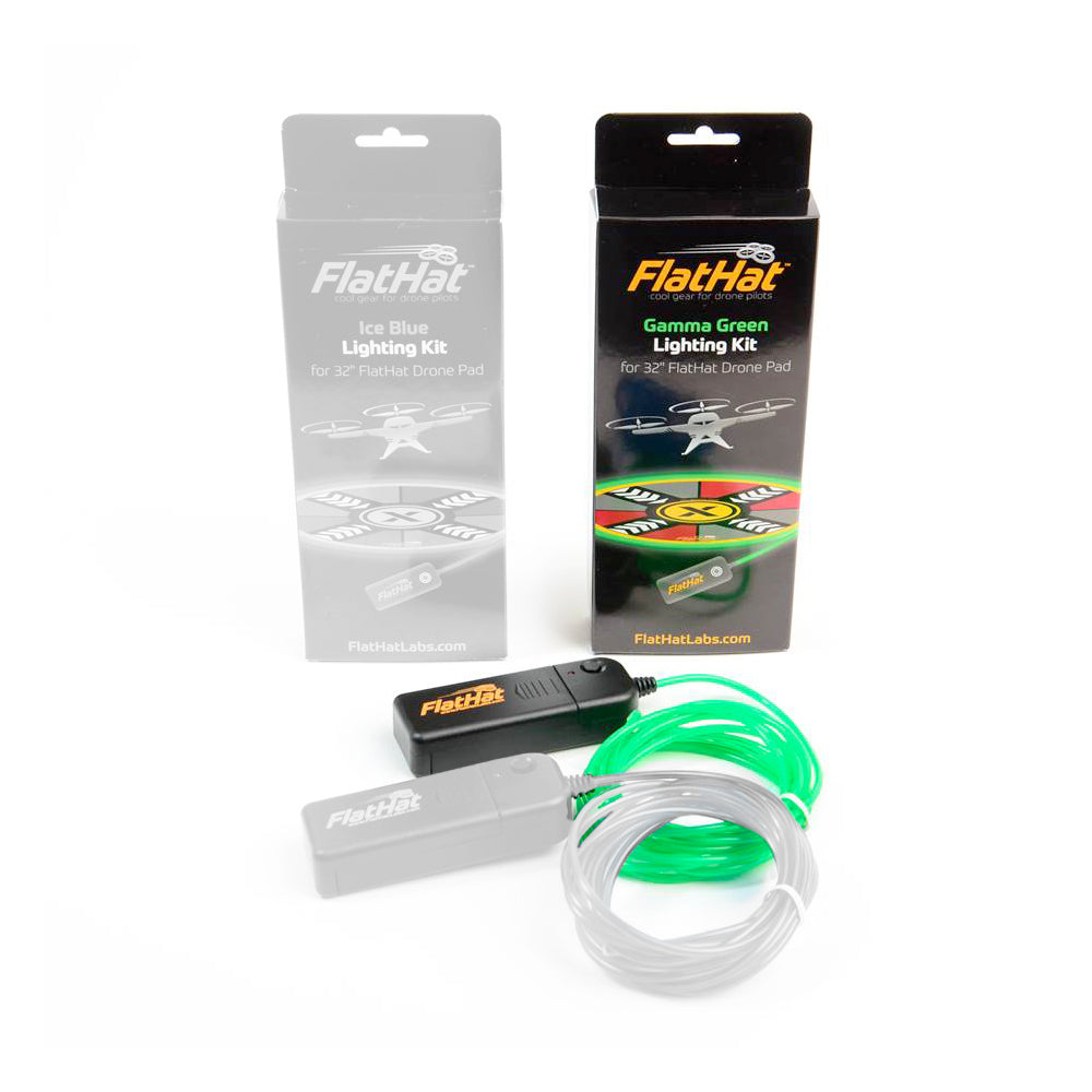 FlatHat Lighting Kit für Collapsible Drone Pads – Gamma Green