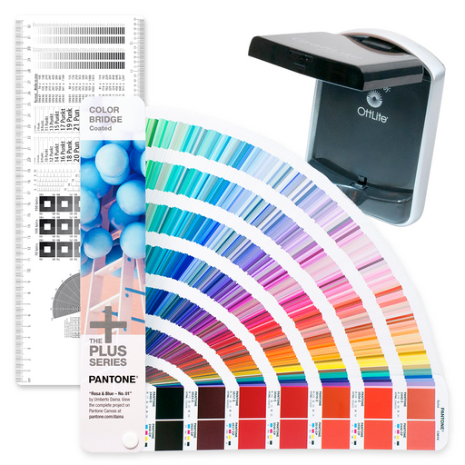PANTONE Graphic Designer Starter Kit including Pantone Color Bridge Coated DCS Typo-Lythometer and Grafilite Mini