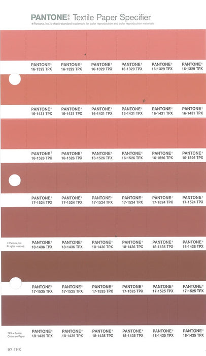 PANTONE Fashion & Home FHI Color Specifier Ersatzseite
