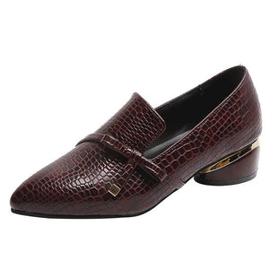 Classic Leather Pointed Toe Women's Loafers