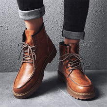 Load image into Gallery viewer, Vintage Leather Army Ankle Boots for Men
