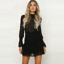 Load image into Gallery viewer, Liza™ - Ruffled See-Through Pullover Princess Cut Dress