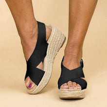 Load image into Gallery viewer, Open-Toe Wedge Sandals