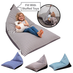 2-in-1 Storage Bean Bag Chair