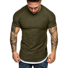 Load image into Gallery viewer, Slim Fit Casual Pleated Men's Tee