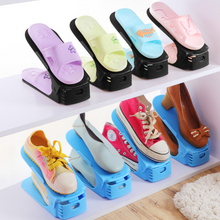 Load image into Gallery viewer, Space-Saving Plastic Shoe Rack