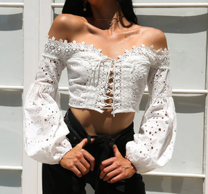 Summer Tassel Lace Blouse