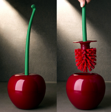 Load image into Gallery viewer, Cherry Shaped Toilet Brush Holder Set