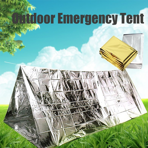 2-in-1 Emergency Thermal Blanket Tent