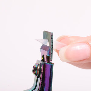 Rainbow False Nails Tip Trimmer