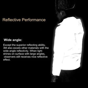 Reflective Unisex Waterproof Hooded Jacket
