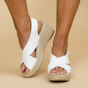 Open-Toe Wedge Sandals