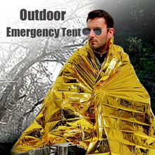 Load image into Gallery viewer, 2-in-1 Emergency Thermal Blanket Tent