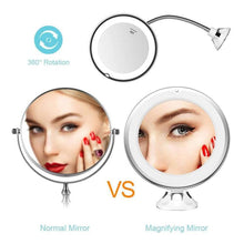 Load image into Gallery viewer, 360 Rotation Flexible Gooseneck Makeup Mirror