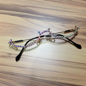 Water Drop Crystal Lensless Fashion Glasses