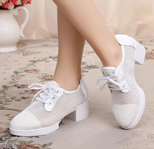 Load image into Gallery viewer, Bendable Fishnet Style Wedge Dance Shoes