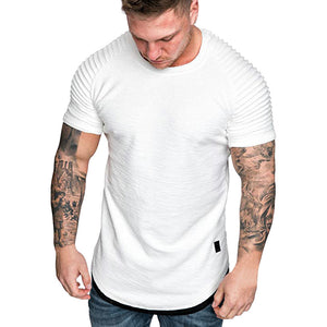 Slim Fit Casual Pleated Men's Tee