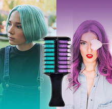 Load image into Gallery viewer, Professional Double Color Hair Chalk Dye Comb