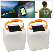 Load image into Gallery viewer, Solar Outdoor Light with Phone Charger