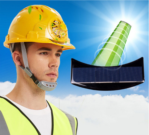 Solar-Powered Fan Cooling Safety Helmet