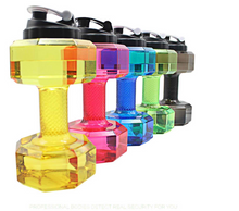 Load image into Gallery viewer, Dumbbell Shape Aqua Bottle