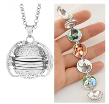 Load image into Gallery viewer, Photo Album Necklace