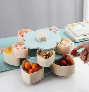 Double Deck Rotary Organizer Box