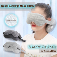 Load image into Gallery viewer, Multifunctional Travel Neck Eye Mask Pillow