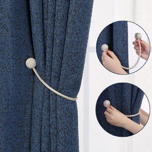 Magnetic Minimalist Curtain Holder Set (2 Pieces)
