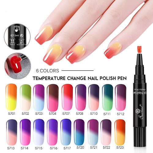 Color Changing One Step-Nail Art Gel Pen