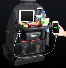 Load image into Gallery viewer, Multi™ 4 USB Port Back Seat Car Organizer