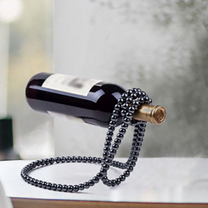 Pearl Beads Necklace Wine Rack
