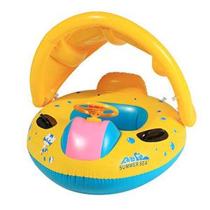 Kids Inflatable Swimming Shade Car