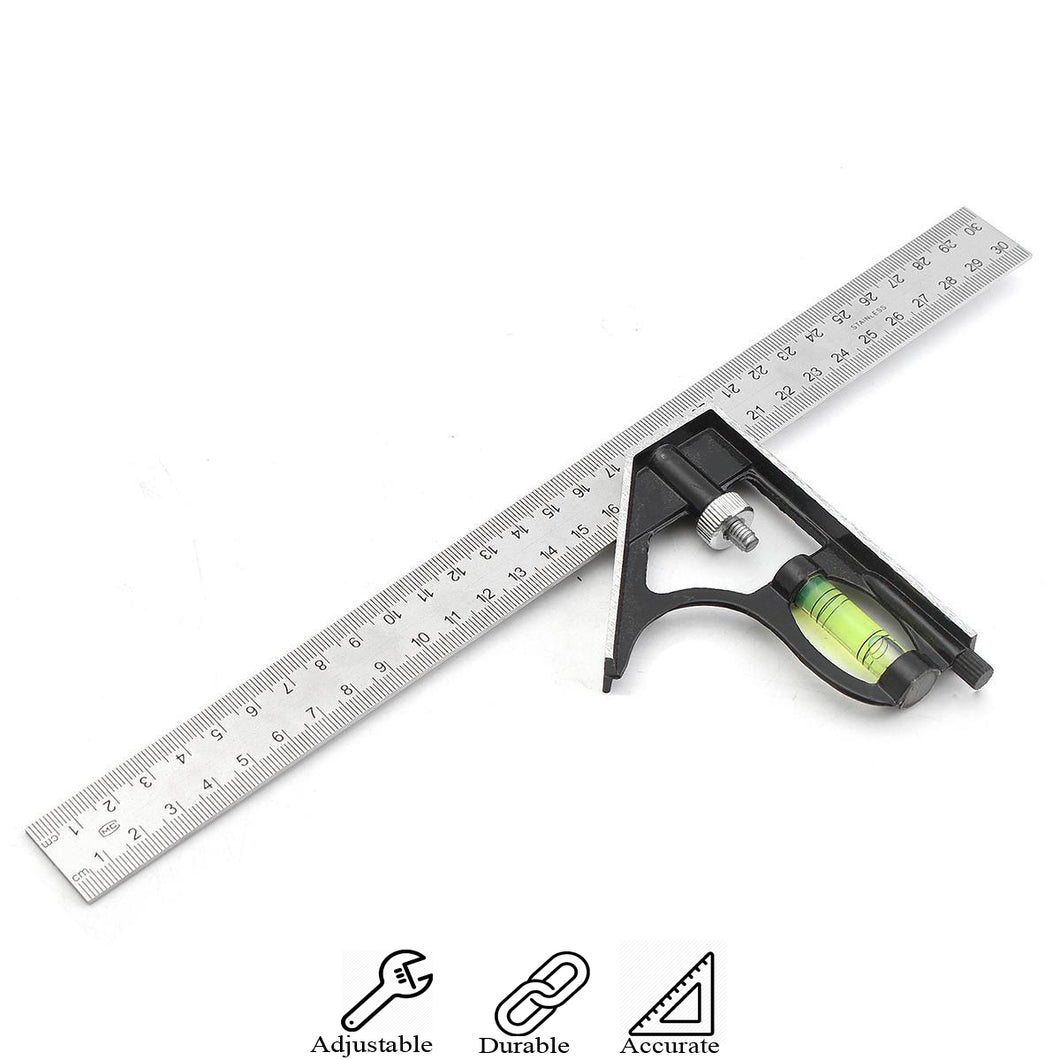 Combination Angle Carpentry Ruler