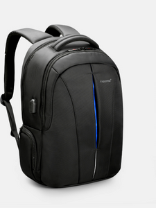 All-In-One Multifunction Blue Strip Backpack