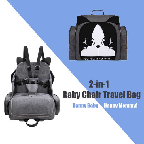 2-in-1 Baby Chair Travel Bag