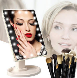 Touch Screen LED Makeup Rotating Mirror