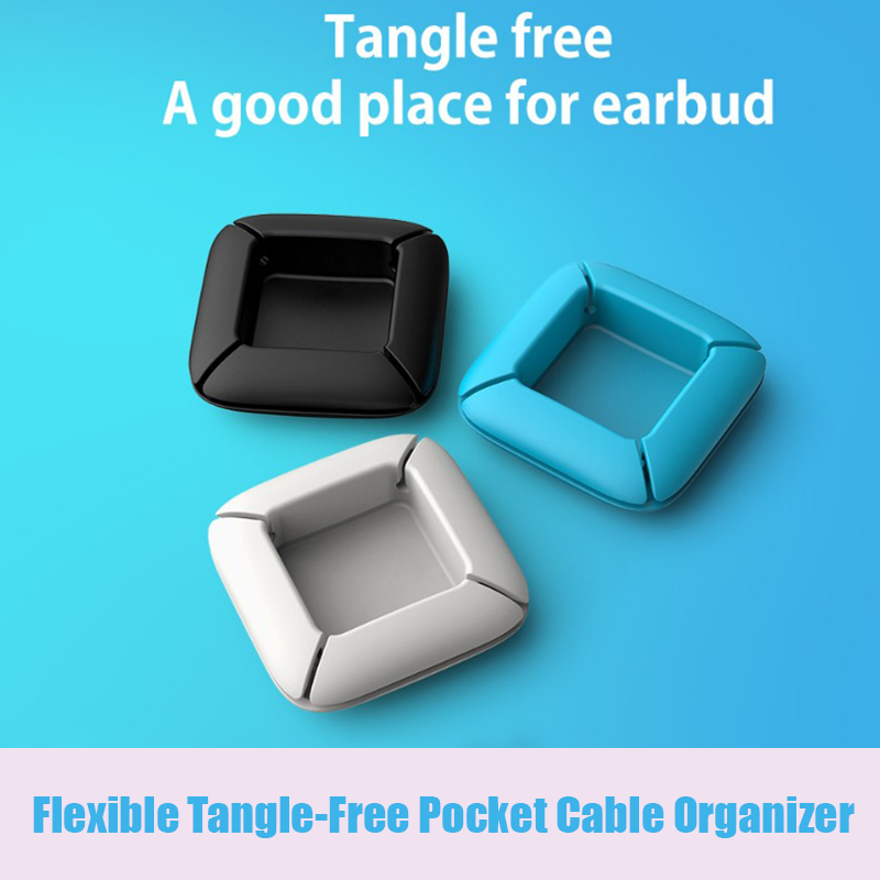Flexible Tangle-Free Pocket Cable Organizer