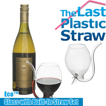 Load image into Gallery viewer, Eco™ Glass with Built-In Straw Set (Set of 2)