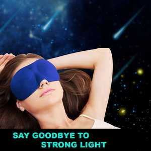 3D Memory Foam Blackout Sleep Masks (Set of 2)