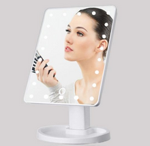Load image into Gallery viewer, Touch Screen LED Makeup Rotating Mirror